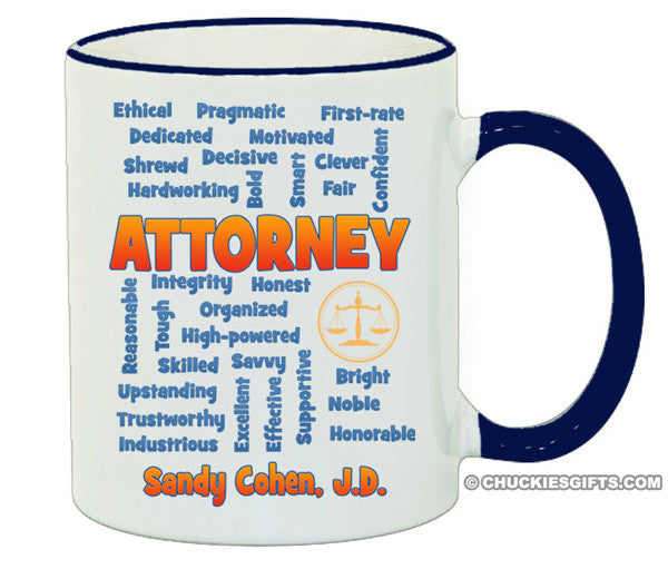 Attorney/Lawyer Mug Expressions-Personalized Gifts