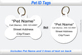 Pet ID Identification Tag - Back of Tag