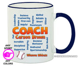 Coach Mug- Personalized All Sports Available