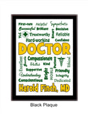 Doctor Plaque Expressions - Personalized - Custom Colors