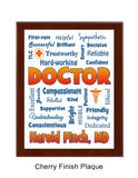 Doctor Plaque Expressions - Personalized - Blue & Orange