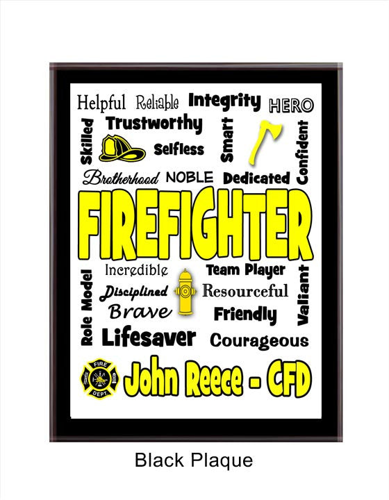Firefighter Plaque Expressions - Personalized