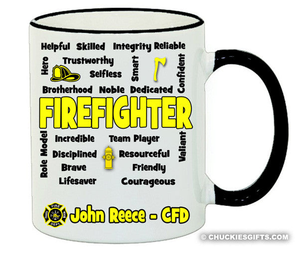 Firefighter Mug Expressions