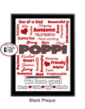 Grandpa Plaque Expressions - Personalized - Custom Colors