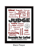 Judge Expressions Plaque - Personalized