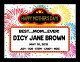 Personalized Mom Marquee Plaque