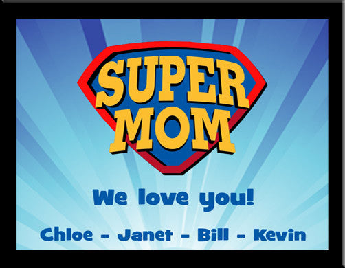 SuperMom Plaque Expressions
