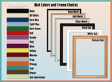 Mat Colors & Frame Choices