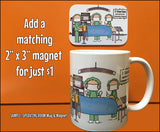 Pontoon Boat Couple Mug