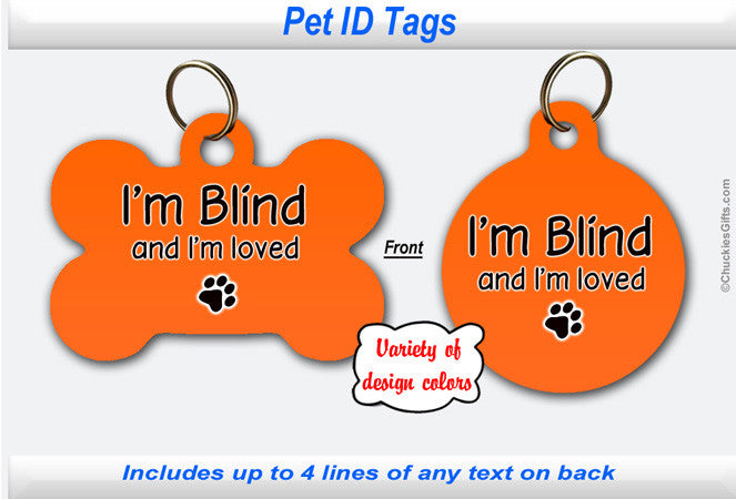 Pet ID Tag - Blind