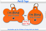 Pet ID Identification Tag- Personalized - I'm Blind