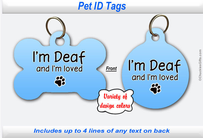 Pet ID Tag - Deaf
