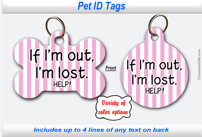 Pet ID Tag - I'm Lost