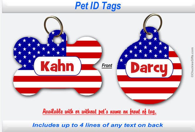 Pet ID Tag - US Flag