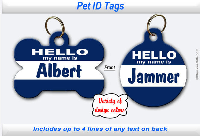 Pet ID Identification Tag- Personalized - Hello