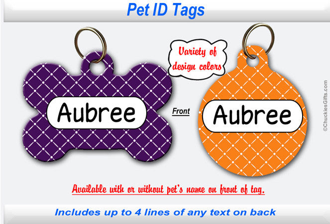 Pet ID Tag - Diamond Lattice