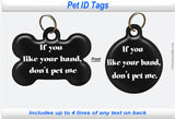 Pet ID Identification Tag- Personalized - Like your hand