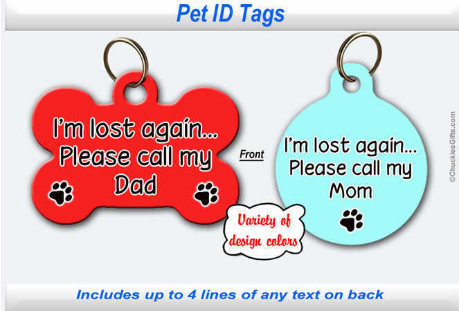 Pet ID Identification Tag- Personalized - Lost Again