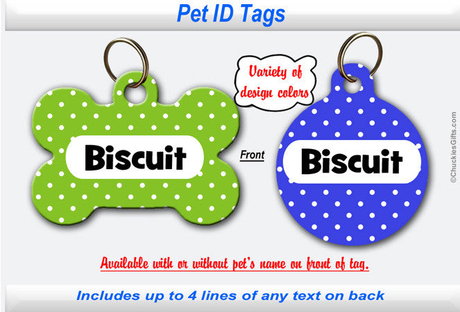 Pet ID Tag - Small Dots