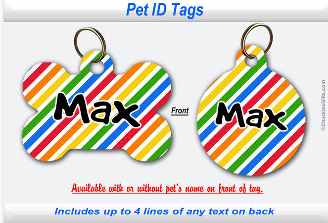 Pet ID Tag -  Bold Stripes