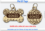 Pet ID Identification Tag- Personalized - African Print