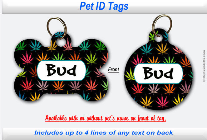 Pet ID Tag -  Weed Leaf