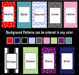 Background Pattern & Color Choices
