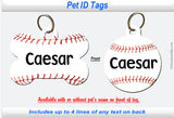 Pet ID Identification Tag - Baseball