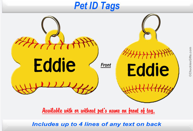 Pet ID Tag - Softball