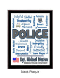 Police Plaque Expressions - Personalized - Custom Colors
