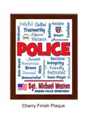Police Plaque Expressions - Personalized - Blue & Red