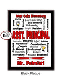 Principal Plaque Expressions - Personalized Red & Black