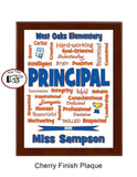 Principal Plaque Expressions - Personalized  - Custom Colors