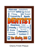 Dentist Plaque Expressions Personalized