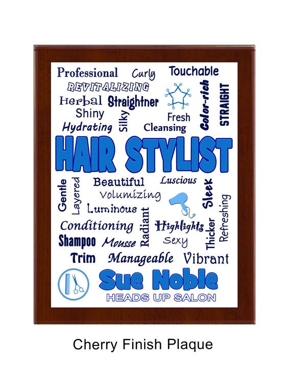 Hair Stylist Expressions Plaque - Personalized