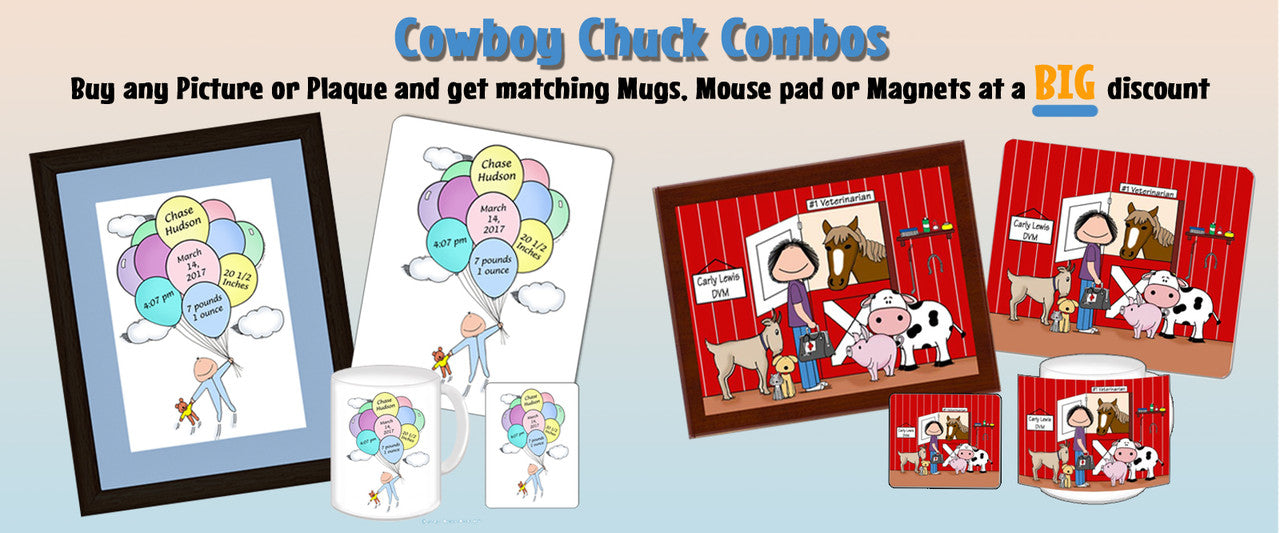 Cowboy Chuck Personalized Gifts