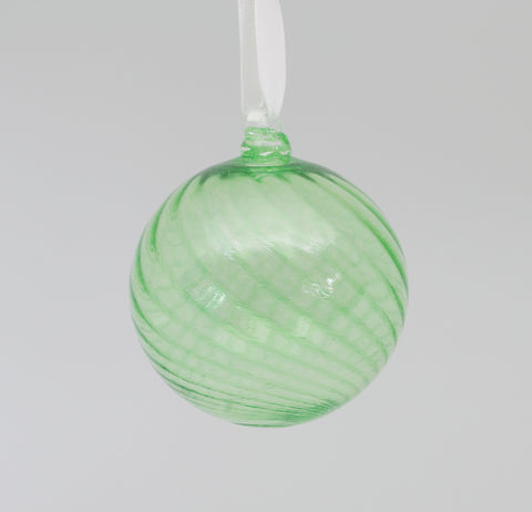 Large Emerald Swirl Ornament