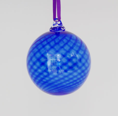 Large Cobalt Swirl Ornament