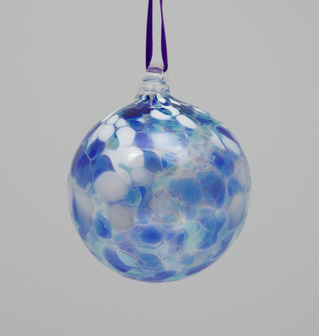 Large Light Blue, Dark blue and white Ornament