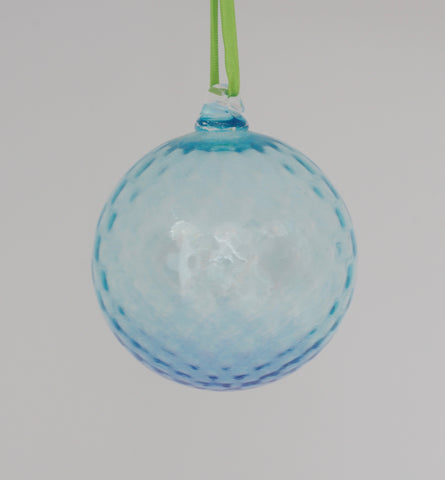 Large Turquoise and Medium Blue Textured ornament