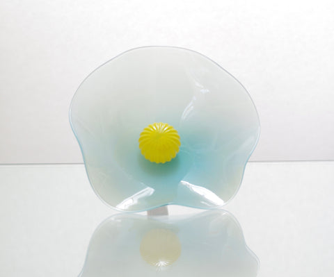 Mini Opaque Light Blue Flower