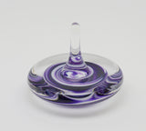 Purple and white swirl ring holder