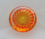 Two tone flat paperweight- Gold and Orange