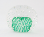 Large Emerald Green Bubble Paperweight