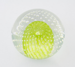 Large Lime Green Bubble Paperweight