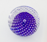 Small Cobalt Bubble Paperweight