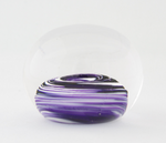 Small Purple and White Swirl Paperweight