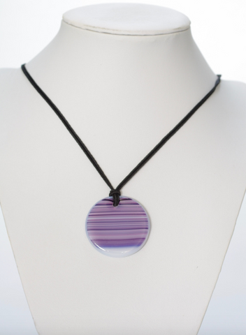 Round Pendant - Purple and Pink 2
