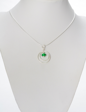 Small Green Ring Pendant