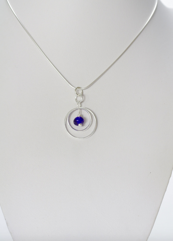 Small Cobalt Ring Pendant